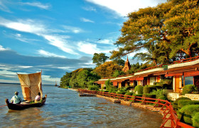 bagan thande hotel deluxe river view