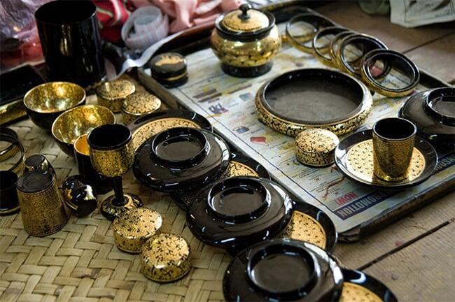 bagan lacquerware shops 6