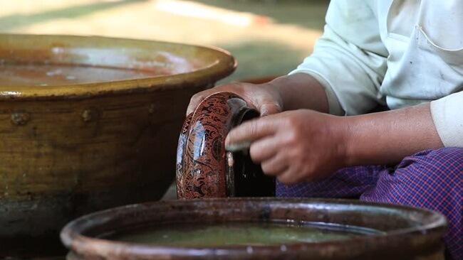 bagan lacquerware shops 8
