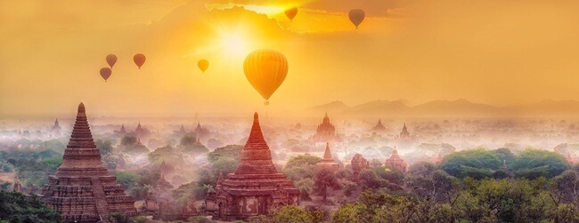 sunrise and sunset in myanmar 1