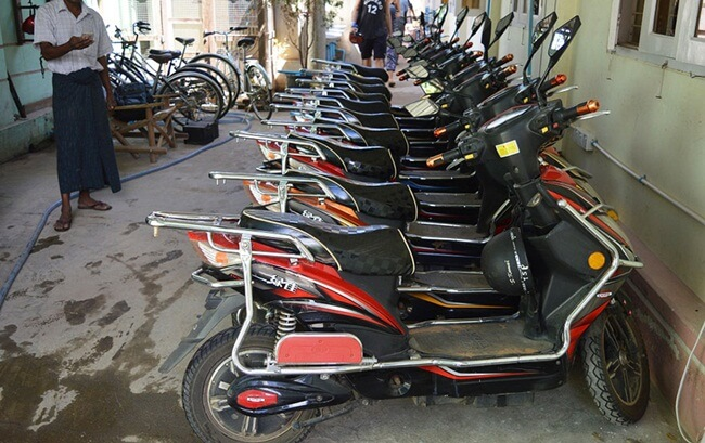 E bike hiring service in Bagan