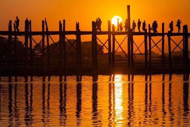 sunrise and sunset in myanmar 2